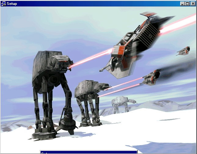 A hoth mezei csata a Shadows of the empire képeivel